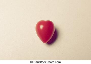 tomate, forme coeur, cerise