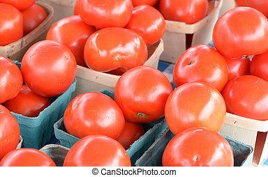tomate, frais, organique