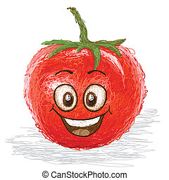 tomate, heureux