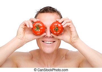 tomate, homme