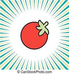 tomate, icône
