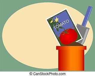 tomate, jardim
