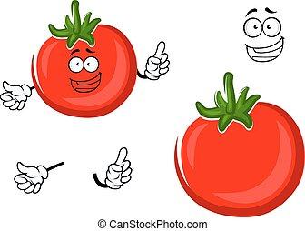 tomate, légume, caractère, rouges, mûre