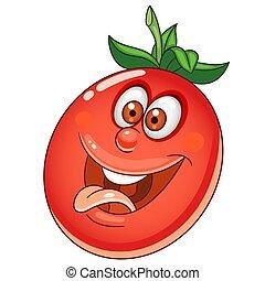 tomate, légume, dessin animé