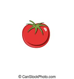 tomate, mûre, backgroud, isolé, illustration, vecteur, blanc rouge