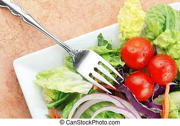 tomate, pepinos, cebola, salada, alface