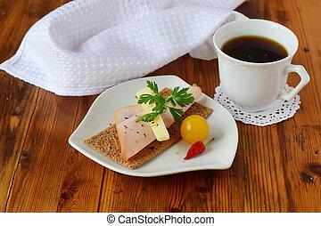 fromage caf sandwich jambon tasse petit d jeuner photographies de stock rechercher photo. Black Bedroom Furniture Sets. Home Design Ideas