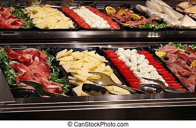 tomate, quesos, barra, vegetabl, bandeja, mozzarella,...