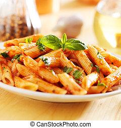 tomate, salsa,  Penne, pastas, sofocado, italiano