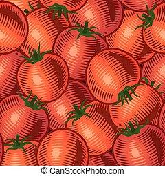 tomate, seamless, fond