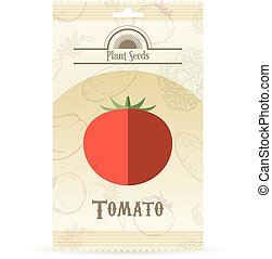 tomate, sementes, pacote