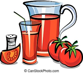 tomate, suco fresco