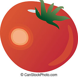 tomate, vecteur, illustration