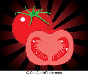 tomate, vecteur