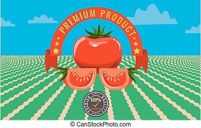 tomate, vendange, -, signe métal, publicité, affiche,...