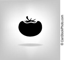 tomate, vetorial, ícone