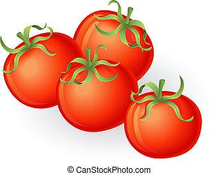 tomaten, illustratie