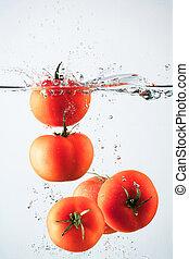 tomates, éclaboussure