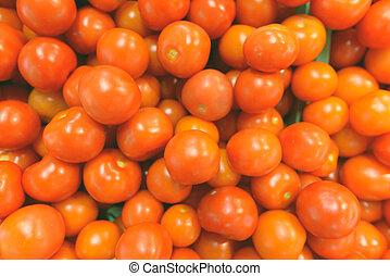 tomates, directement, coup, au-dessus