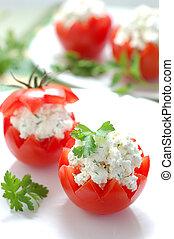 tomates, disecado, feta
