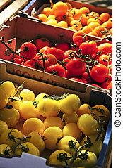 tomates, marché
