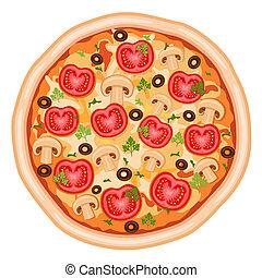 tomates, pizza