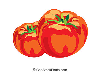 Tomato - 100% Adobe Illustrator vector image with only solid...