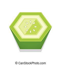 Tomato 3D Button Design Green color
