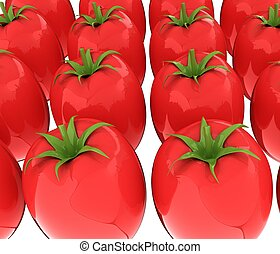 tomato. 3d illustration