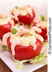 tomato appetizer with shrimp