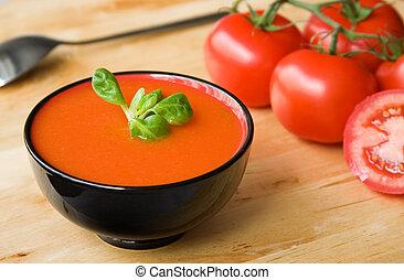 tomato-based, sopa, frío, español, gazpacho