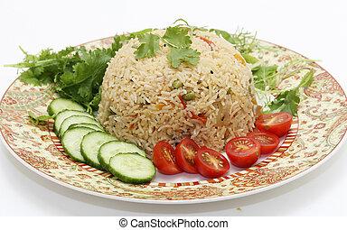 Tomato biryani and salad - A healthy tomato (thakkali) ...