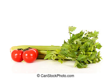 Tomato celery vegetables - Tomato and celery vegetables on ...