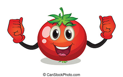 Tomato - Illustraion of a tomato with face