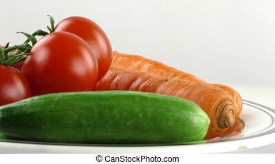 Tomato Cucumber and Carrot Vegetable