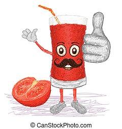 tomato fruit juice mustache