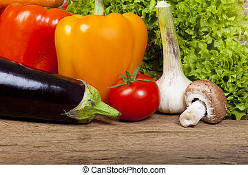 Tomato, garlic, eggplant and other vegetables