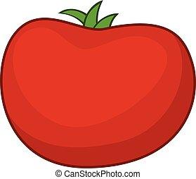 Tomato icon, cartoon style
