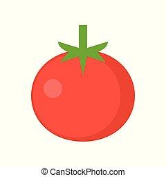 Tomato icon, flat design vector