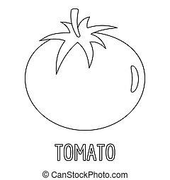 Tomato icon, outline style.