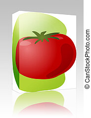Tomato illustration box package