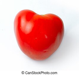 Tomato in the form of red heart