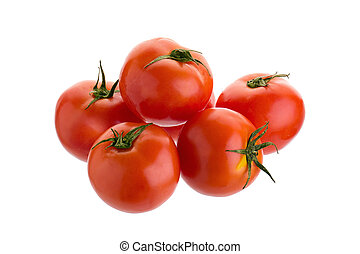 Tomato isolated on a white background