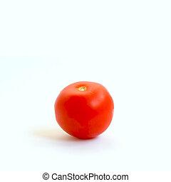 Tomato isolated on blue