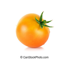 Tomato isolated on the white background