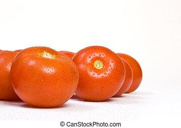 tomato, isolated on white background