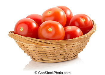 tomato isolated on white