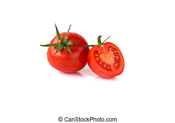 Tomato isolated on white. collection. With clipping path.