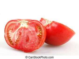 Tomato isolated on white