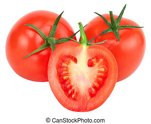Tomato isolated on white. With clipping path